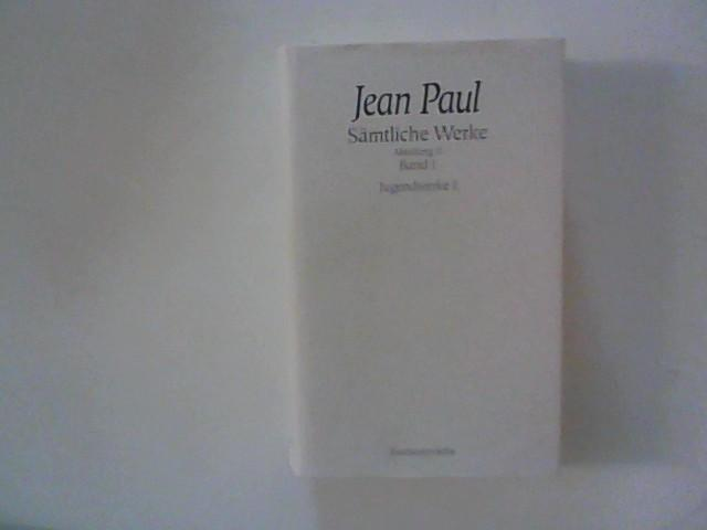 Jean Paul ; Sämtliche Werke, Abteilung II,: Miller, Norbert Hrsg.:
