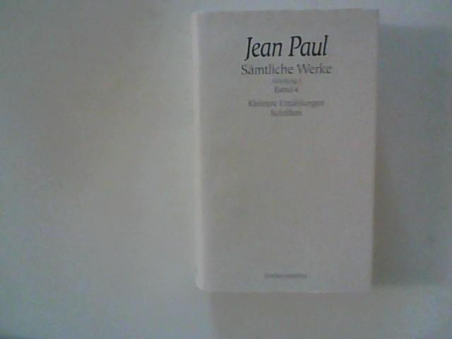 Jean Paul ; Sämtliche Werke, Abteilung I,: Miller, Norbert Hrsg.: