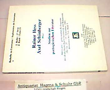 Studien zur portugiesischen Literatur. Akten des 1.: Hess, Rainer und