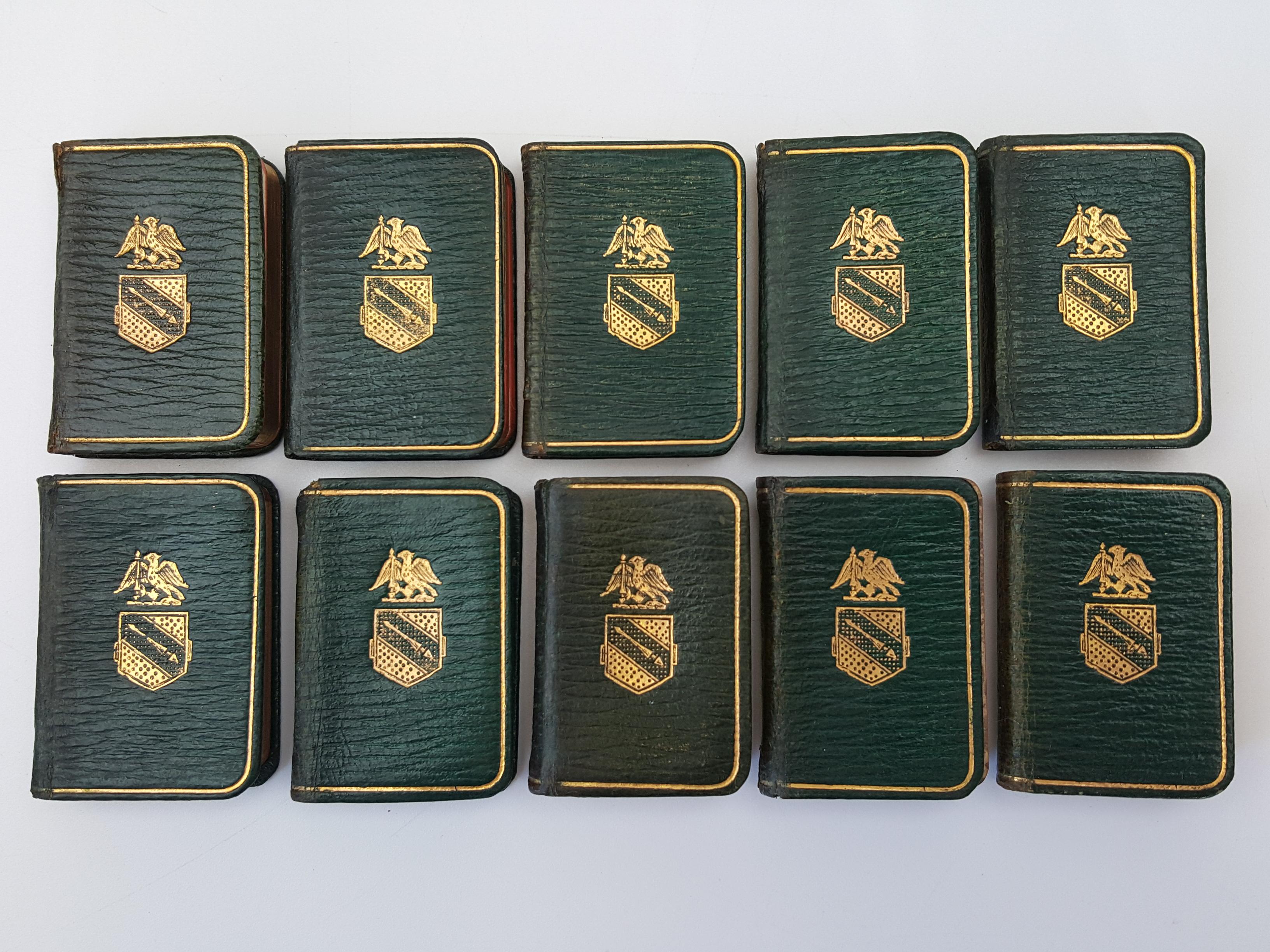 10 Miniature Volumes of Shakespeare [10 volumes]: William Shakespeare, J.
