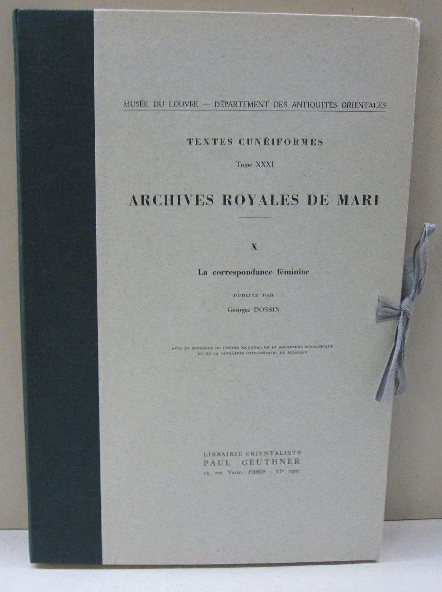 Textes Cuneiformes Archives Royales De Mari; X: Georges Dossin