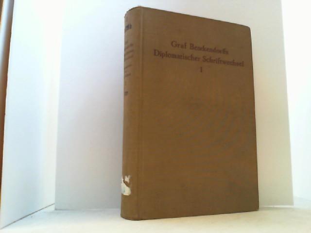 Graf Benckendorffs Diplomatischer Schriftwechsel. Hier Band I: Siebert, B. von