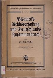 Deutschlands Zusammenbruch und Auferstehung; Teil: T. 1.,: Otto Becker