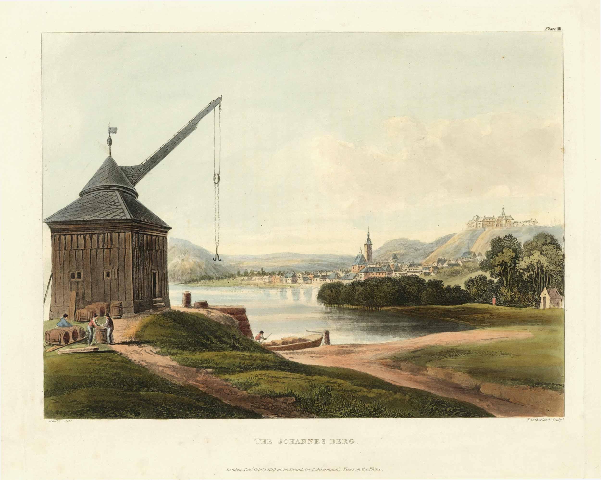 Gesamtansicht über den Rhein; im Vordergrund links: OESTRICH-WINKEL: