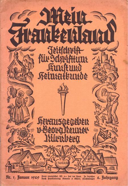 Mein Frankenland. 2. Jg. Nr. 1 Januar: Neuner, Georg (Hg.)
