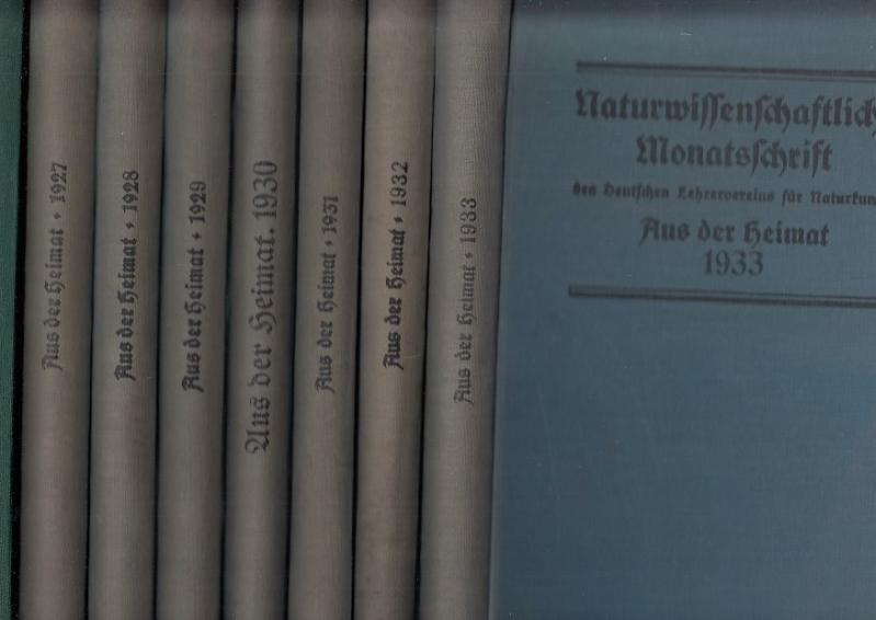 Aus der Heimat. Naturwissenschaftliche Monatsschrift. Konvolut mit: Aus der Heimat.