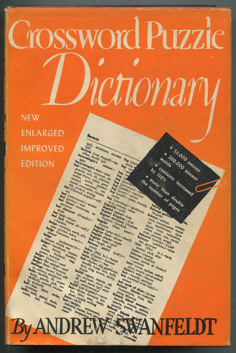Crossword Puzzle Dictionary Revised and ...