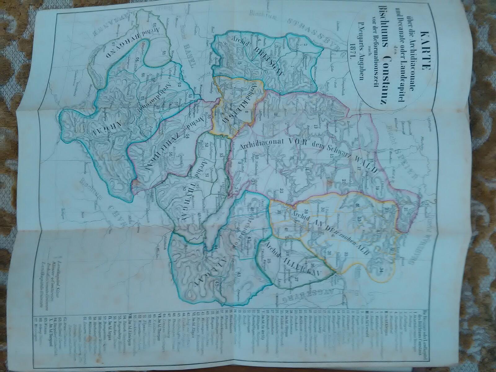 Freiburger Diöcesan-Archiv. Sechster Band. Mit einer Karte,: Kirchlich-historischer Verein der