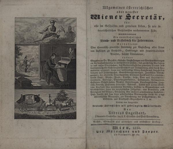 Allgemeiner oesterreichischer oder neuester Wiener Secretär, für: Briefsteller - Engelhart,