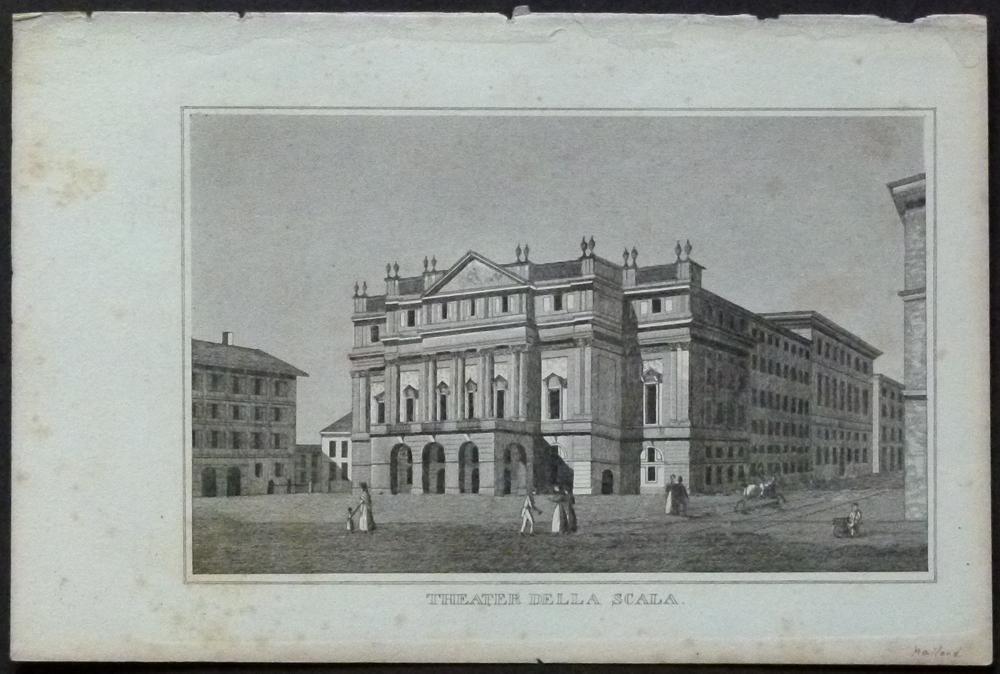 """Theater della Scala."""" Ansicht des 1778 eröffneten: Mailand/Milano. -"""