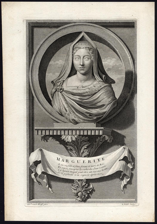 Antique Print-MARGUERITE DE NAVARRE-PRINCESS OF FRANCE-Valck-Van der