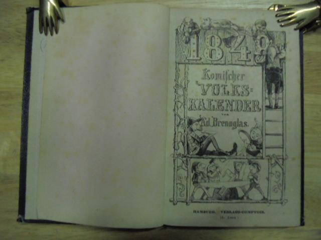 Komischer Volkskalender für 1848. Mit vielen Illustrationen.: Brennglas, Adolf (d.