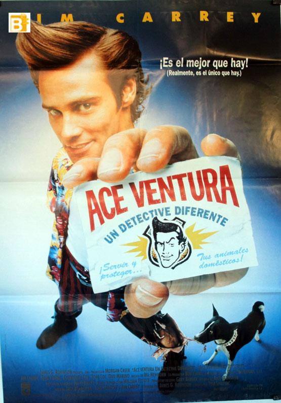 Ace Ventura Un Detective Diferente 1994dir Tom Shadyaccast Jim Carrey Courteney Cox Sean Youngespa A 70x100 Cm 27x41 Inches 1 Sh Poster 1994 Art Nbsp Nbsp Print Nbsp Nbsp Poster Benito Original Movie Poster