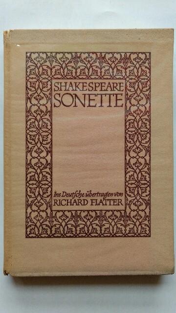 Shakespeare Sonette.: Flatter, Richard: