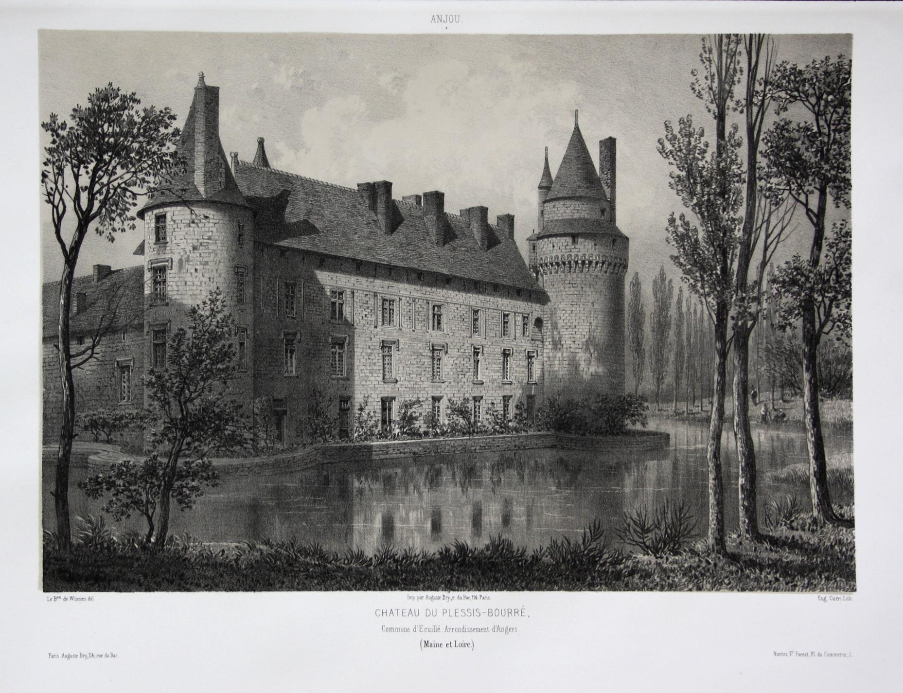Chateau du Plessis-Bourre / Commune d'Ecuille. Arrond.: Wismes, Olivier de