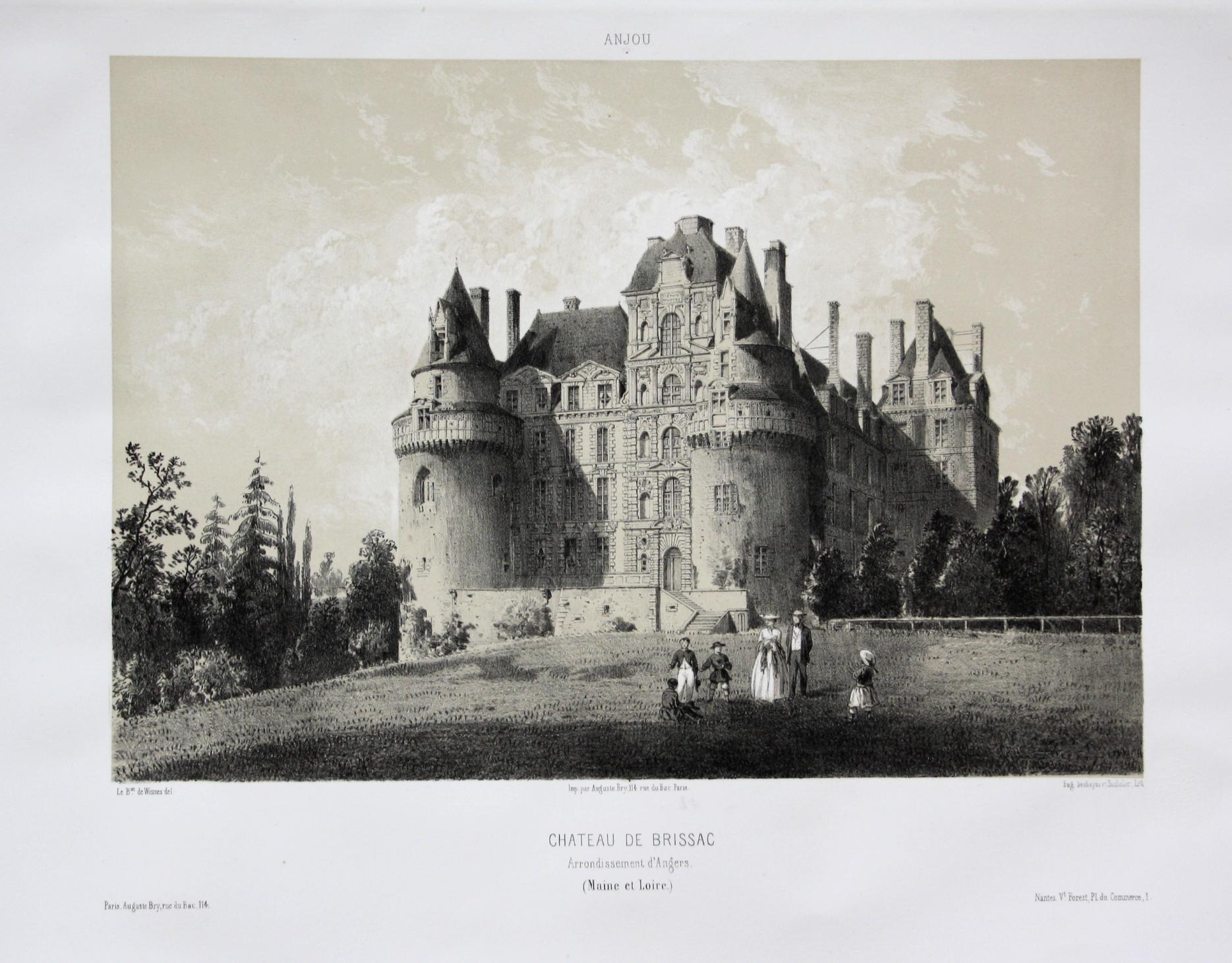 Chateau de Brissac / Arrond. d'Angers /: Wismes, Olivier de