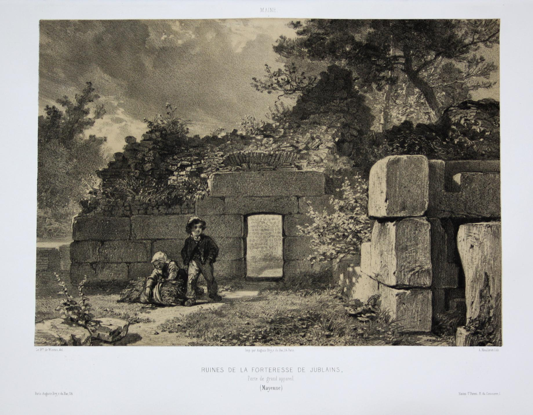 Ruines de la Forteresse de Jublains /: Wismes, Olivier de