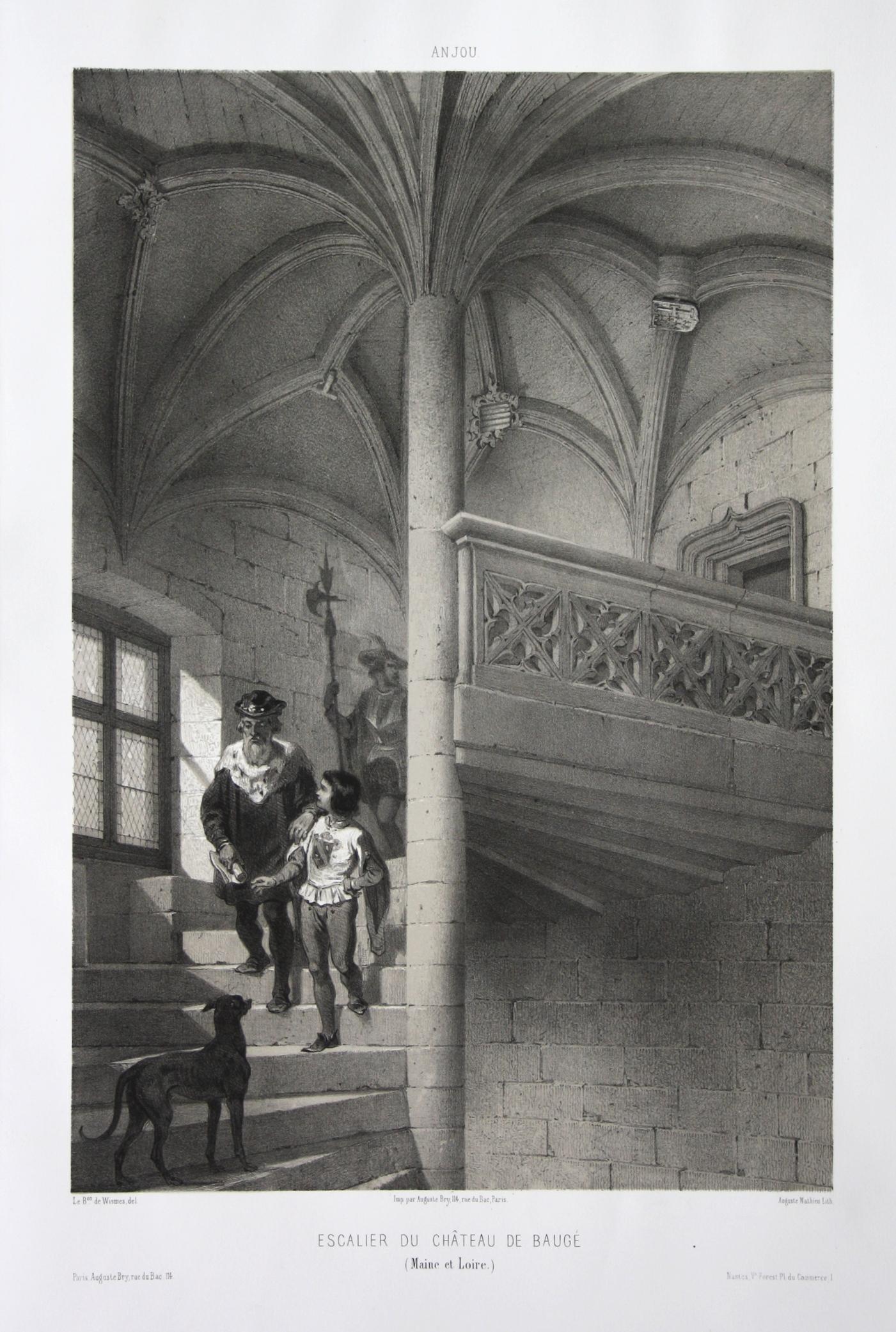 Escalier du Chateau de Bauge / Maine: Wismes, Olivier de