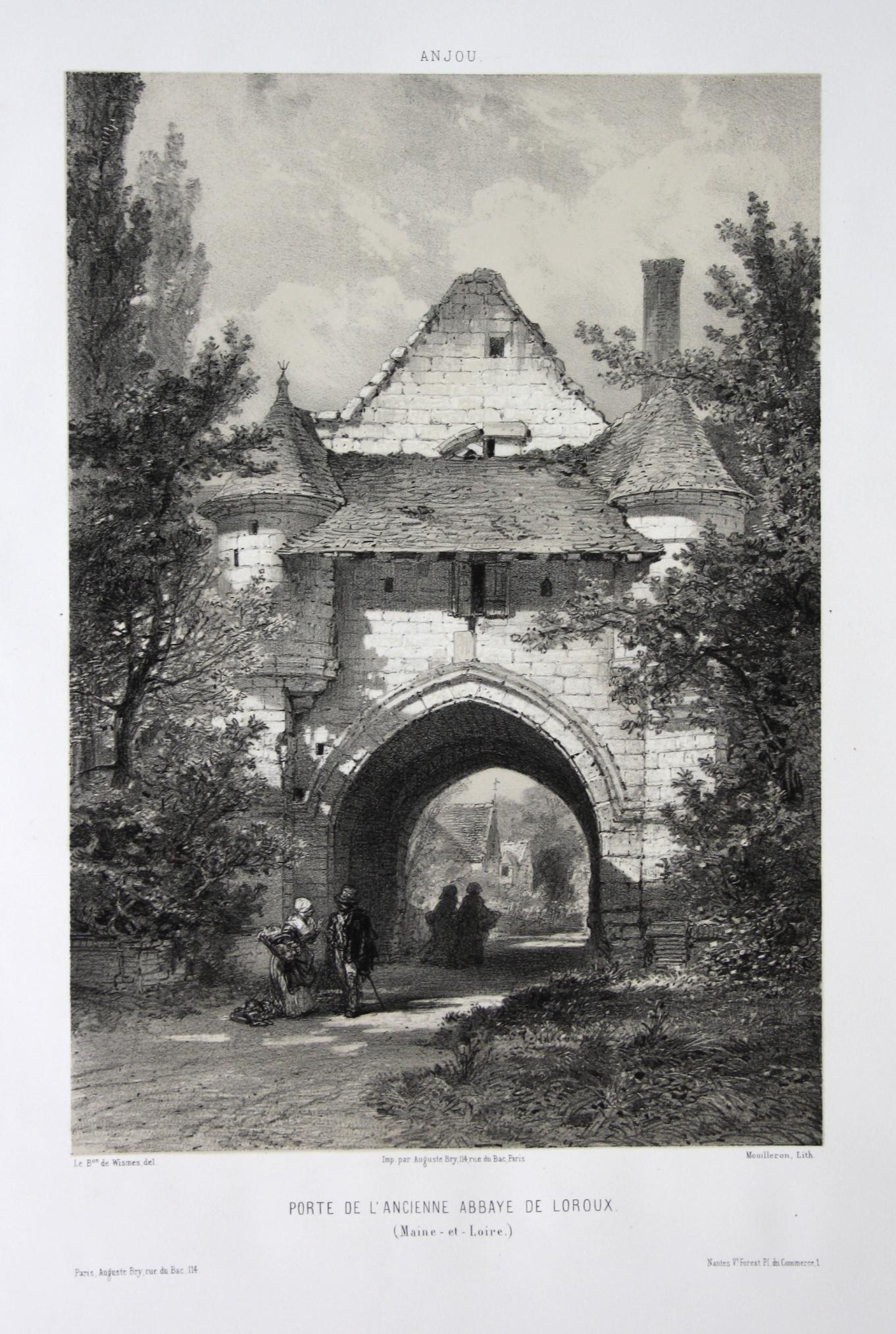 Porte de l'Ancienne Abbaye de Loroux /: Wismes, Olivier de