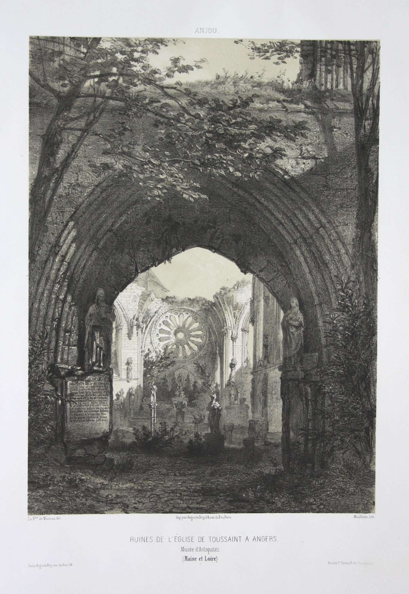 Ruines de l'Eglise de Toussaint a Angers: Wismes, Olivier de