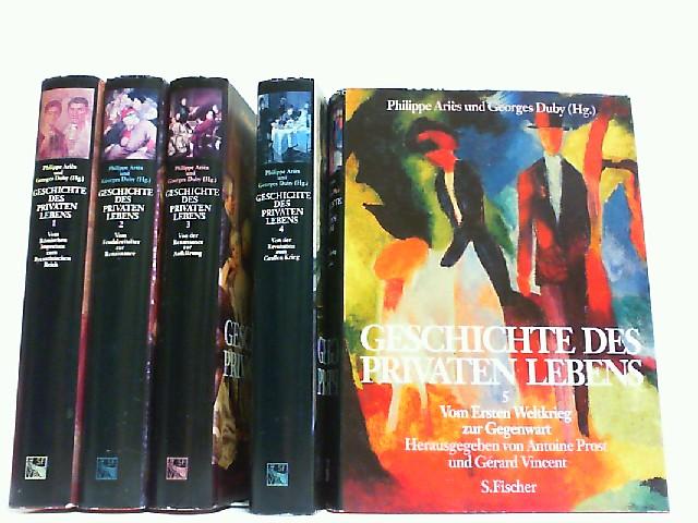 Geschichte des privaten Lebens. Hier 5 Bände: Aries, Philippe und