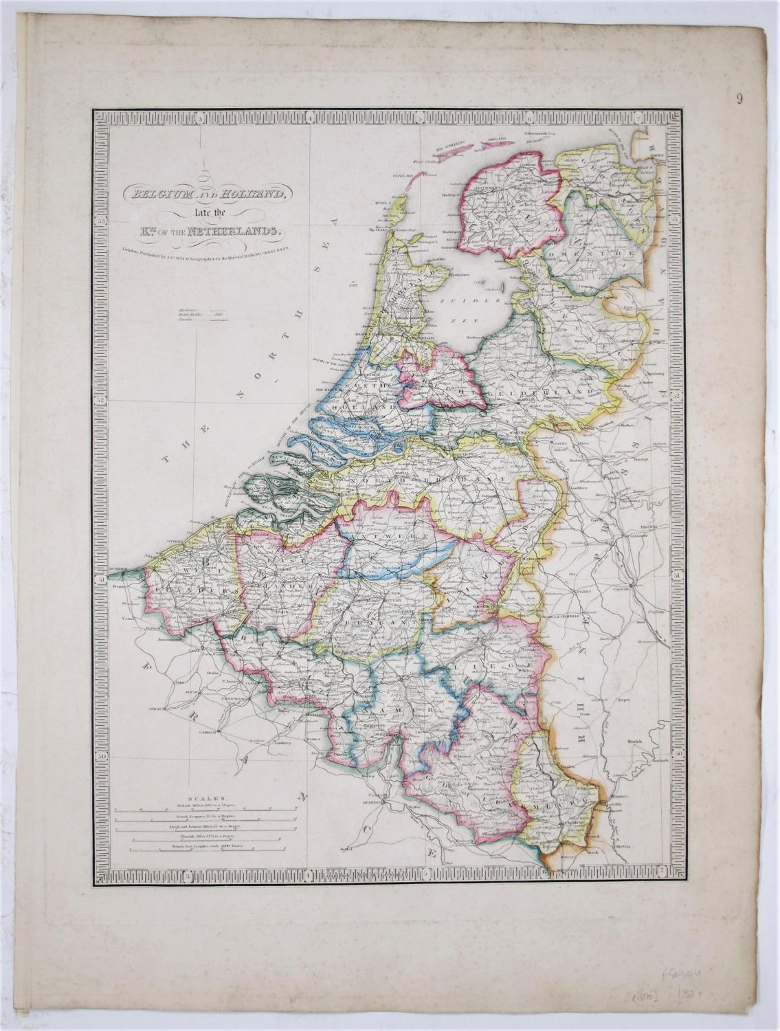 Belgium and Holland, late the Km. of: WYLD, James