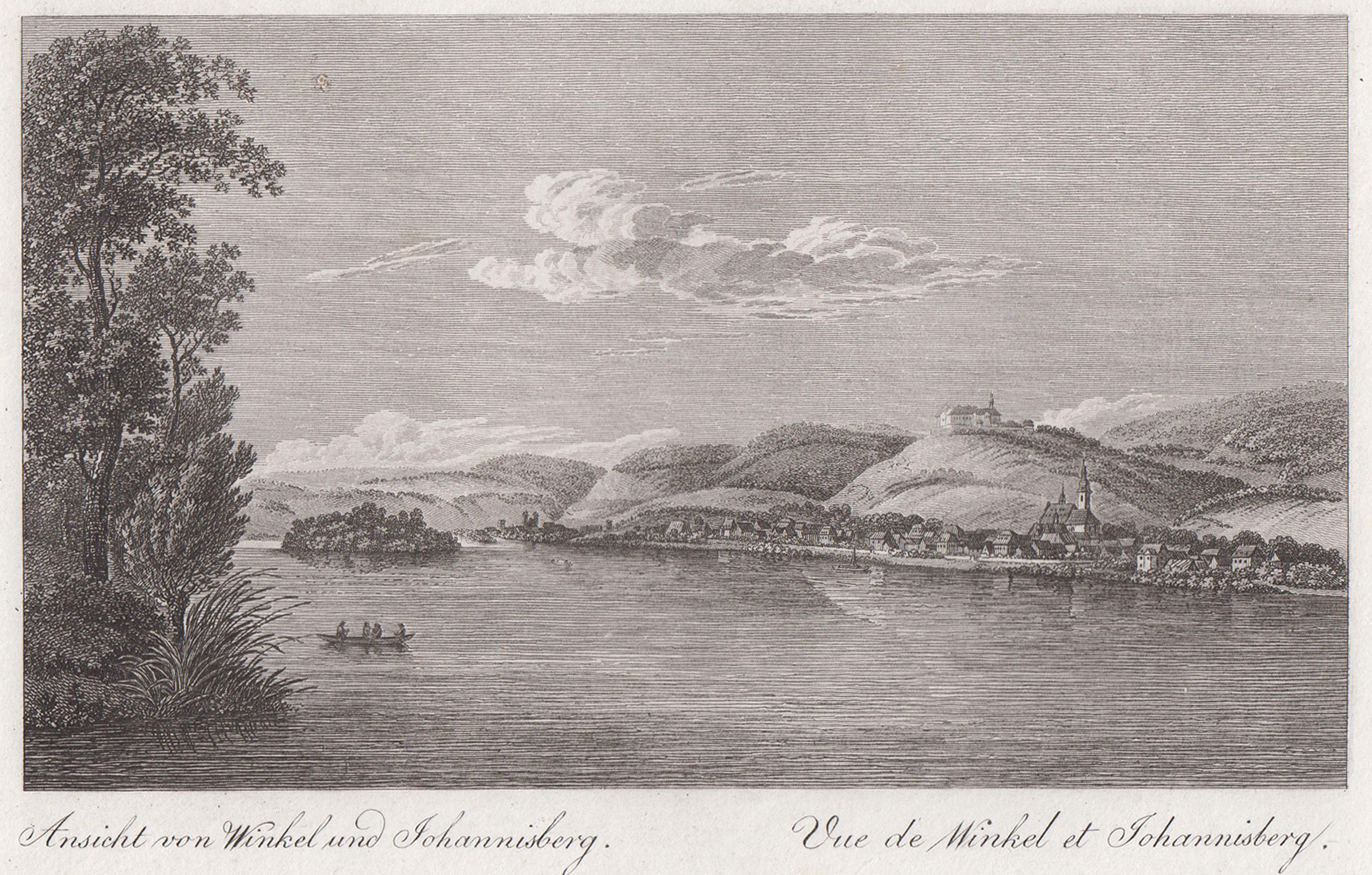 Gesamtans. v. Rhein aus, i. Hgr. Schloß: Oestrich - Winkel: