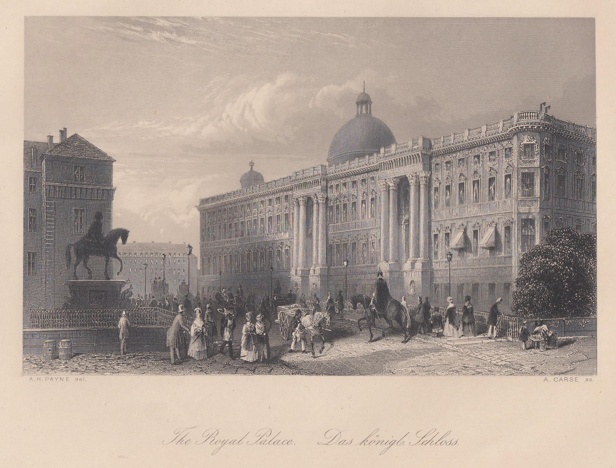 "Ansicht v. d. Burgstraße, ""Le Cháteau royal.: Berlin - Schloss:"