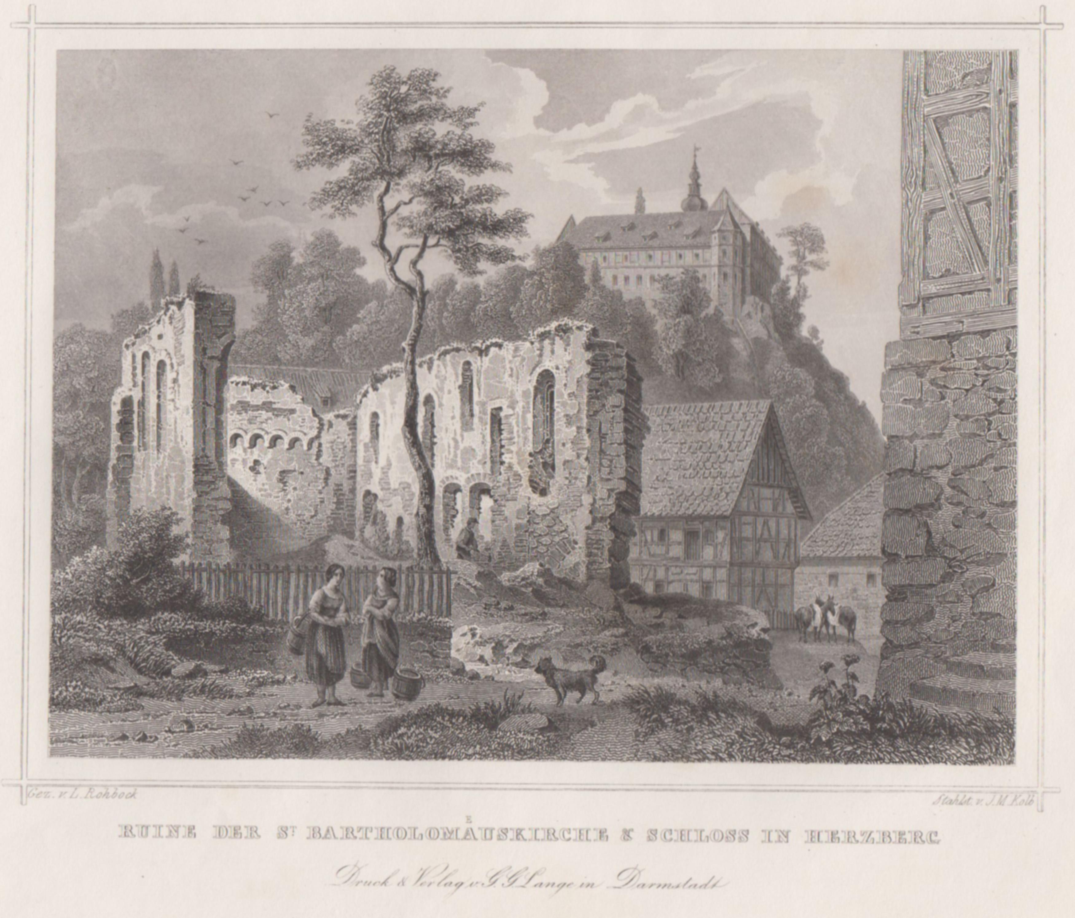 TA., St. Bartholomäuskirche (Ruinenansicht), i. Hgr. das: Herzberg Am Harz: