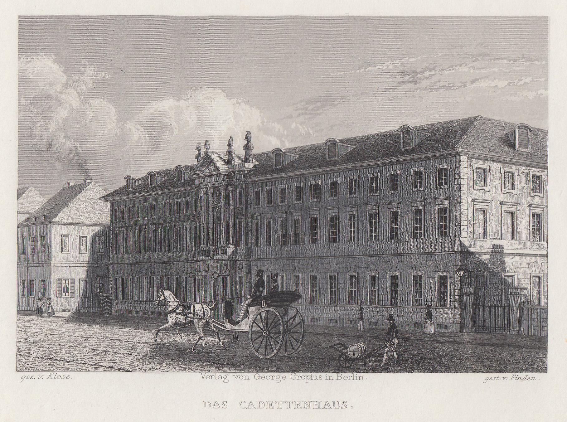 """Kadettenhaus, """"Das Cadettenhaus"""".: Berlin - Militärbauten:"""