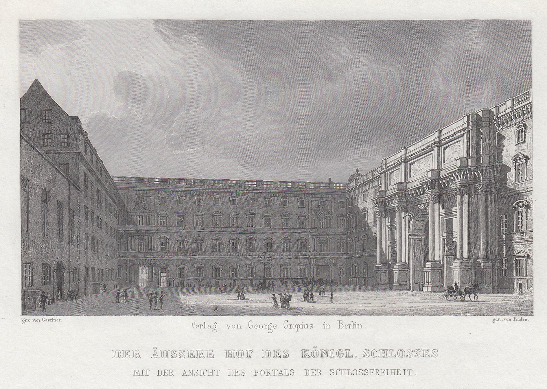 "Schloßhof ( äußerer ), ""Der Äussere Hof: Berlin - Schloss:"