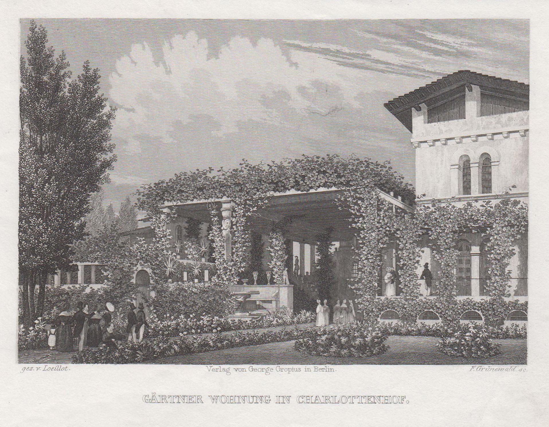 """Römische Bäder im Park Charlottenhof, """"Gärtner Wohnung: Potsdam - Park"""