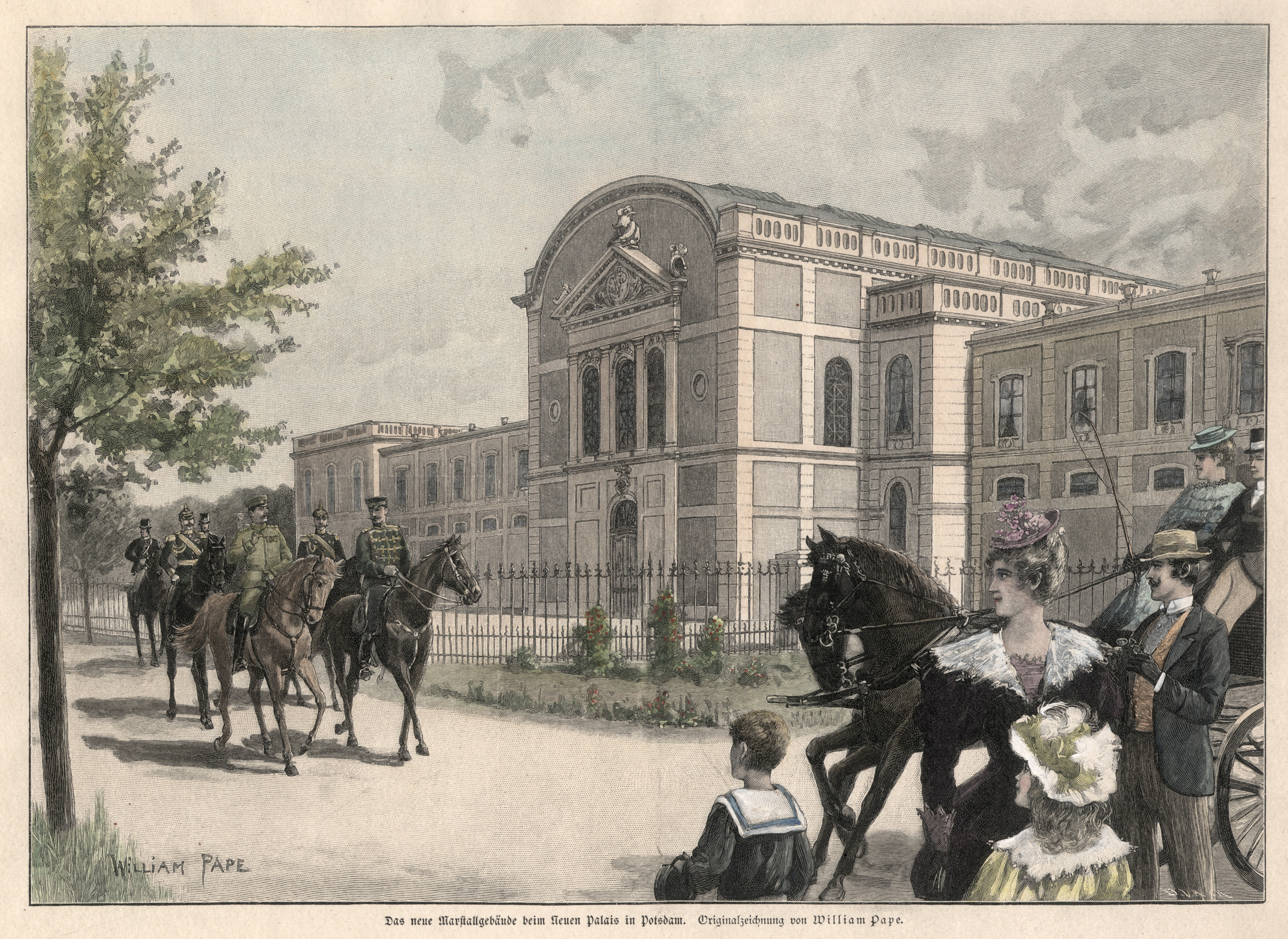 "Marstall, ""Das neue Marstallgebäude beim Neuen Palais: Potsdam - Park"