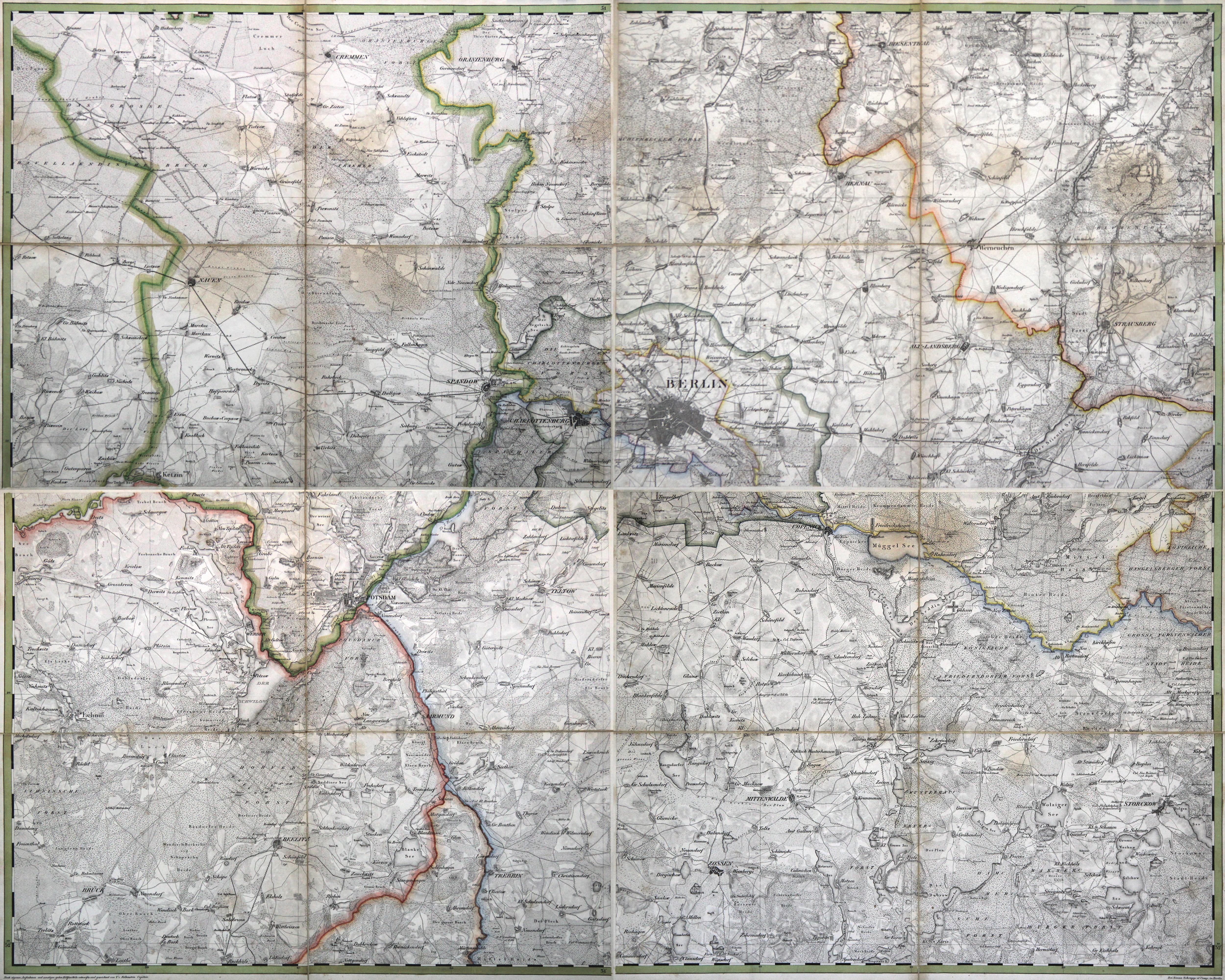 Manoever Plan der Gegend um Berlin.S R.: Berlin - Umgebungskarte: