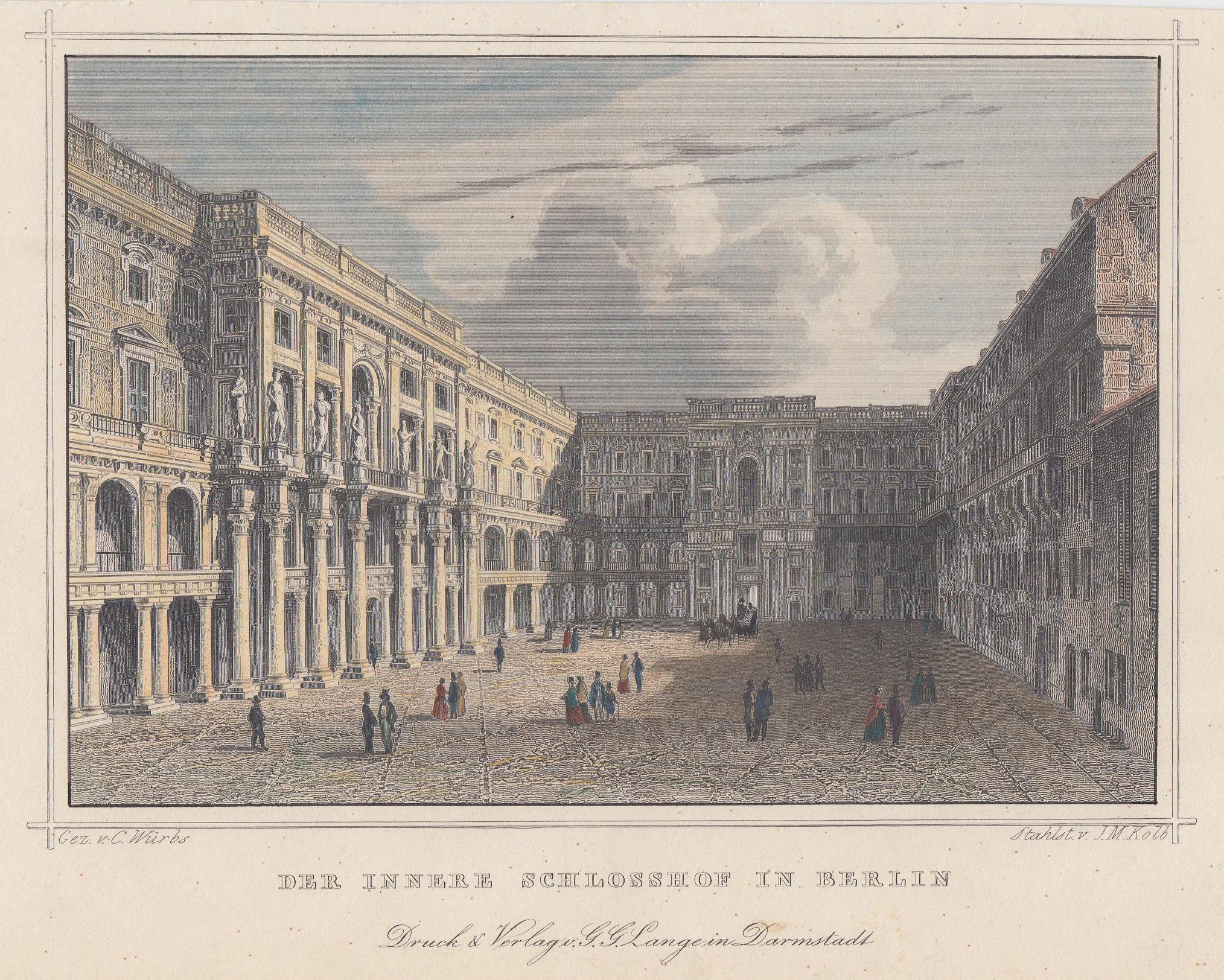 """Schloßhof, """"Der innere Schlosshof in Berlin"""".: Berlin - Schloss:"""