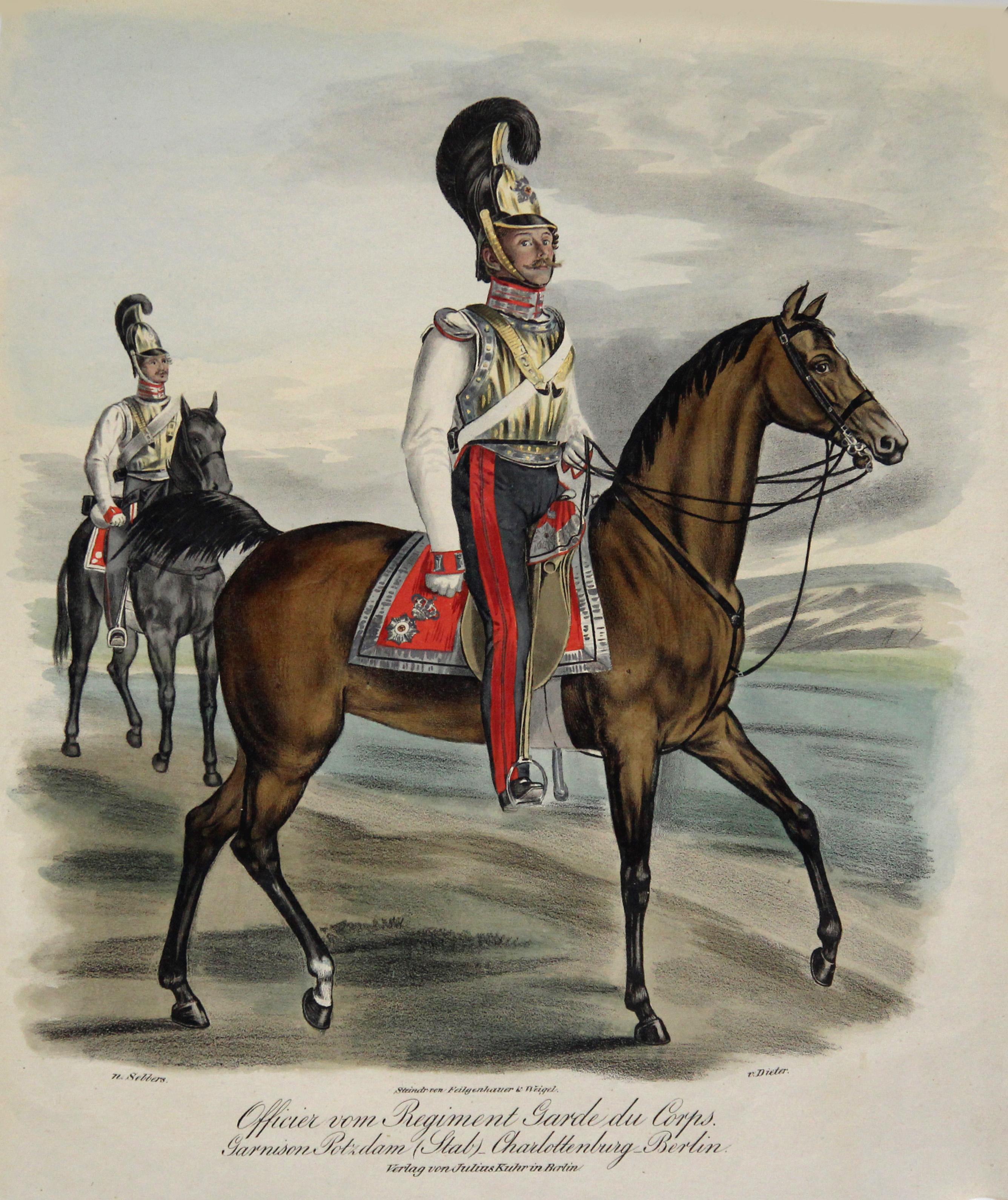 Offizier vom Regiment Garde du Corps. Garnison: Preussisches Militär: Garde