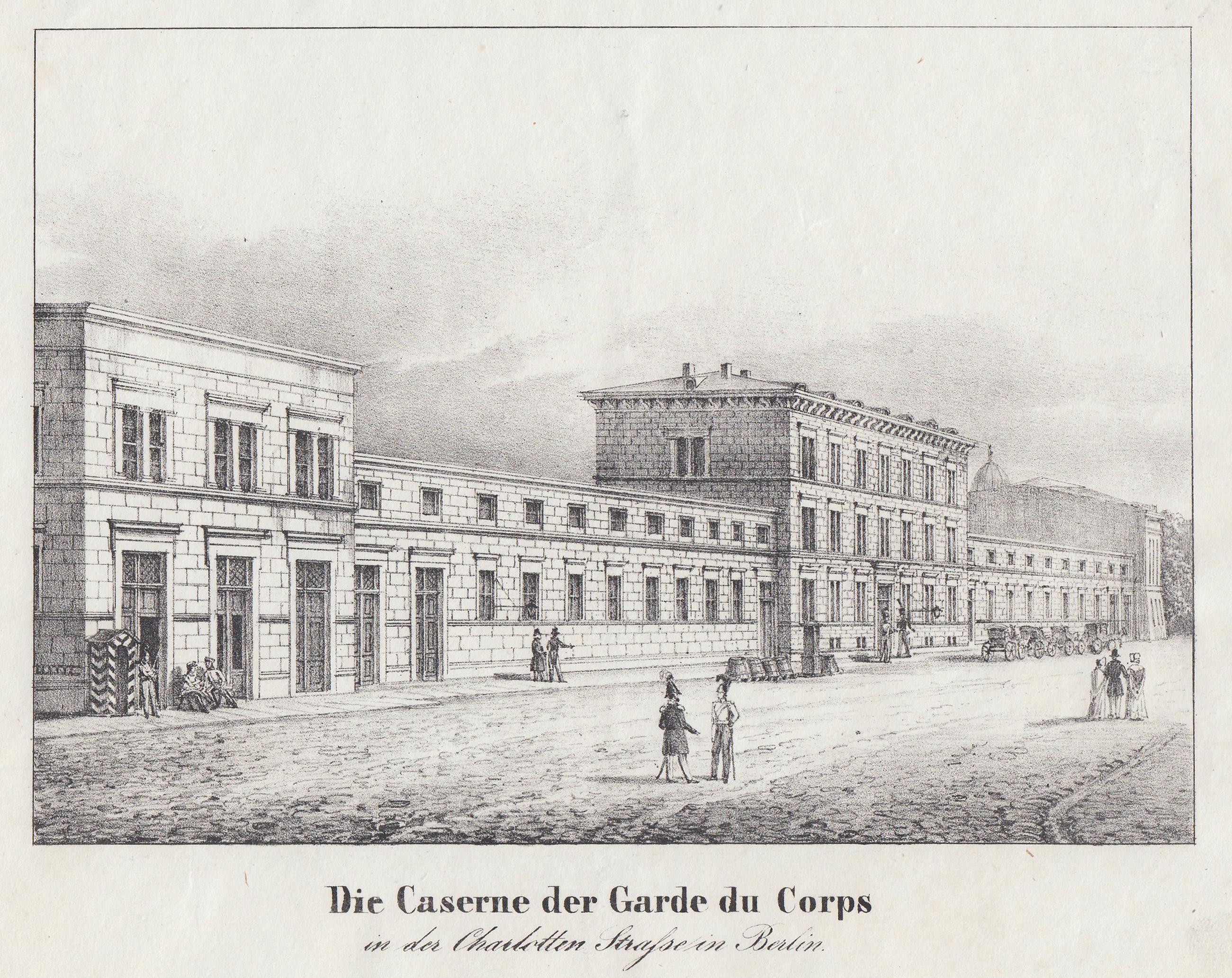 Die Caserne der Garde du Corps in: Berlin - Militärbauten: