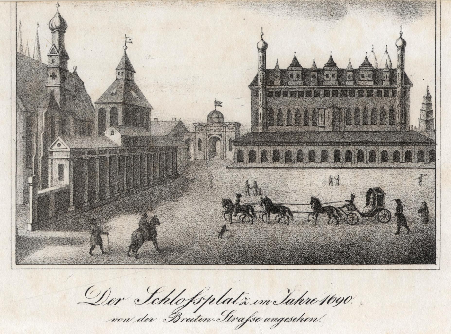 "Ansicht v. d. Breiten Strasse, ""Der Schlossplatz: Berlin - Schloss:"