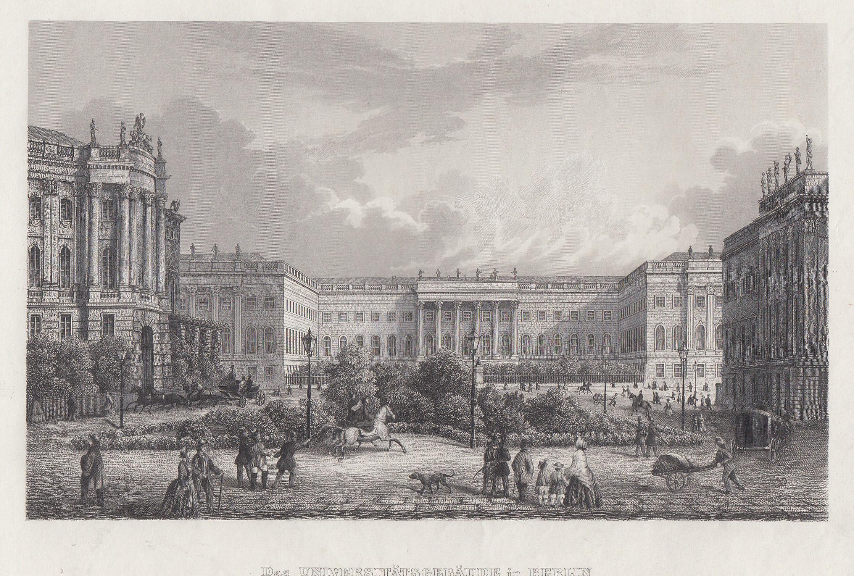 Das Universitätsgebäude in Berlin.: Berlin - Universität: