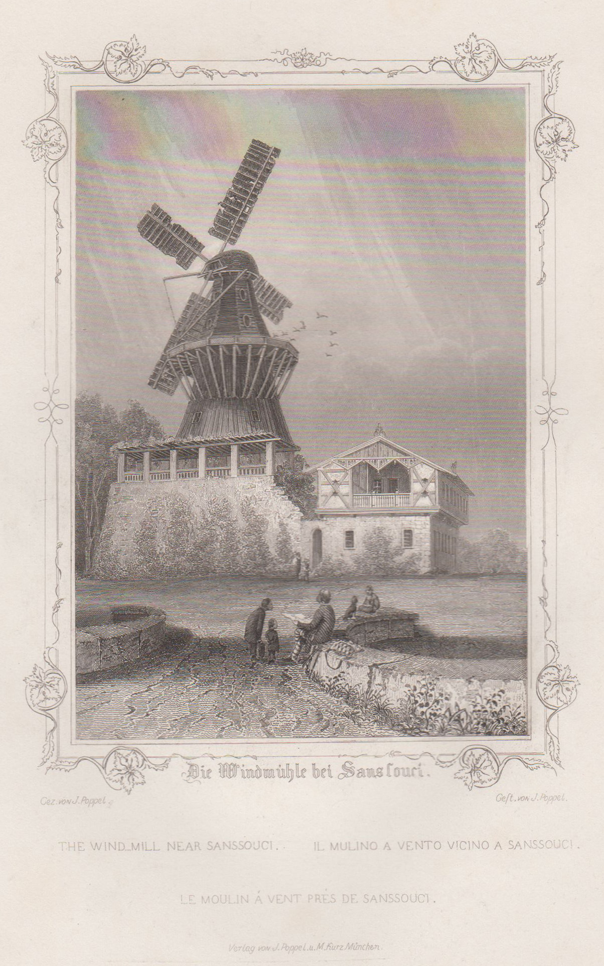 """Mühle, """"Die Windmühle bei Sanssouci"""".: Potsdam - Park"""