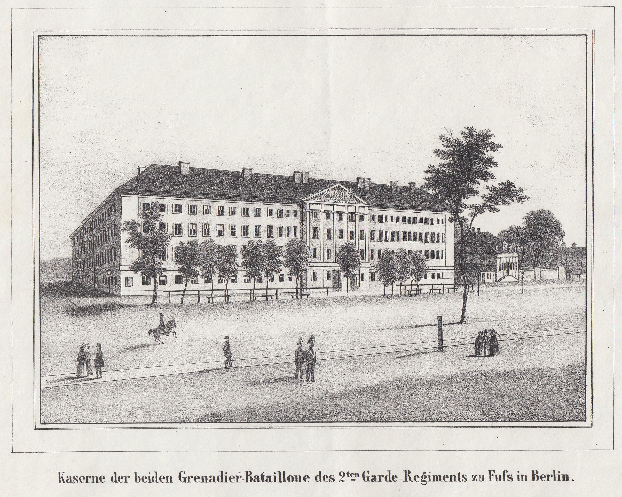 Kaserne der beiden Grenadier - Bataillone des: Berlin - Militärbauten: