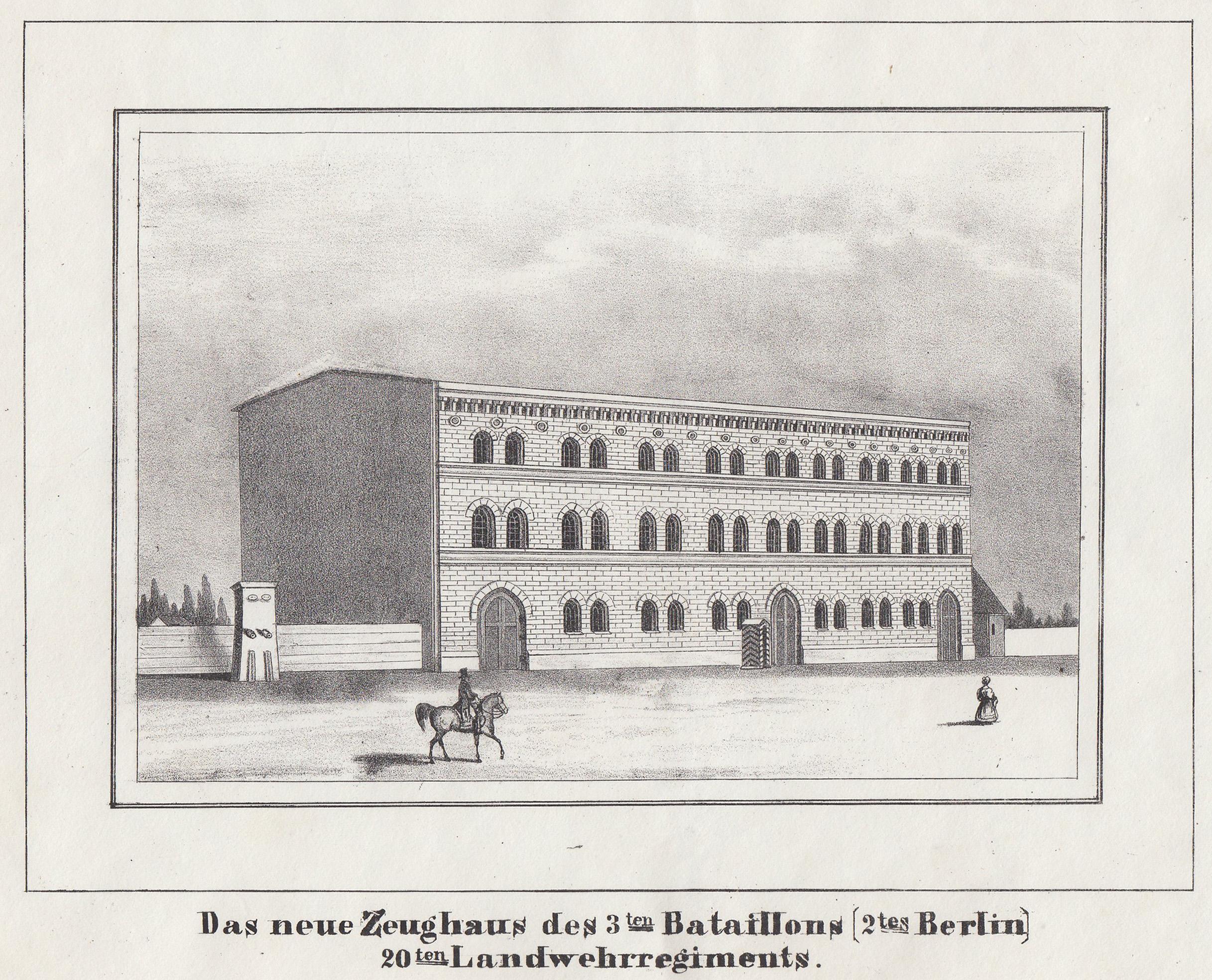 "Zeughaus, ""Das neue Zeughaus des 3ten Bataillons: Berlin - Militärbauten:"