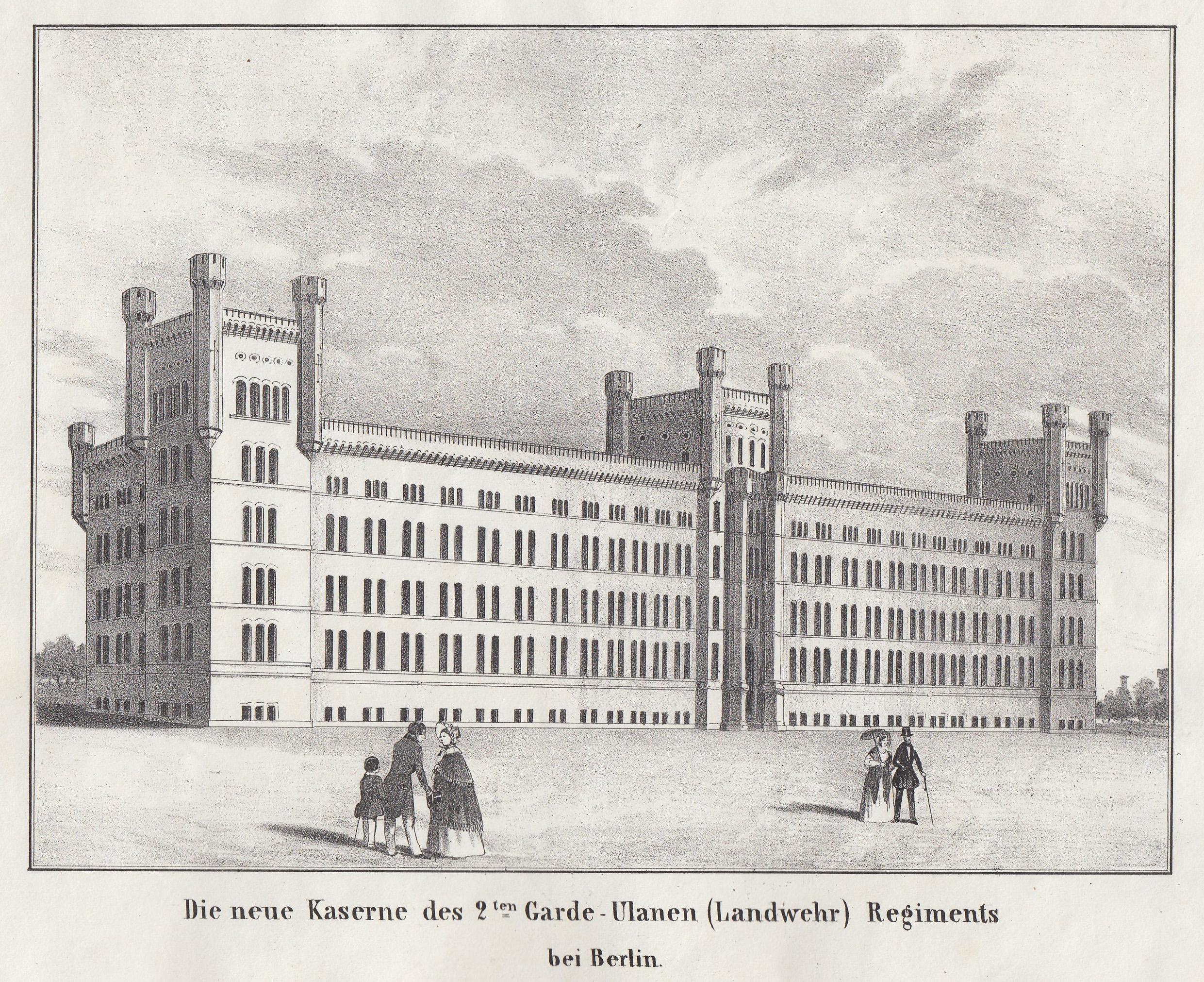 Die neue Kaserne des 2.ten Garde -: Berlin - Militärbauten: