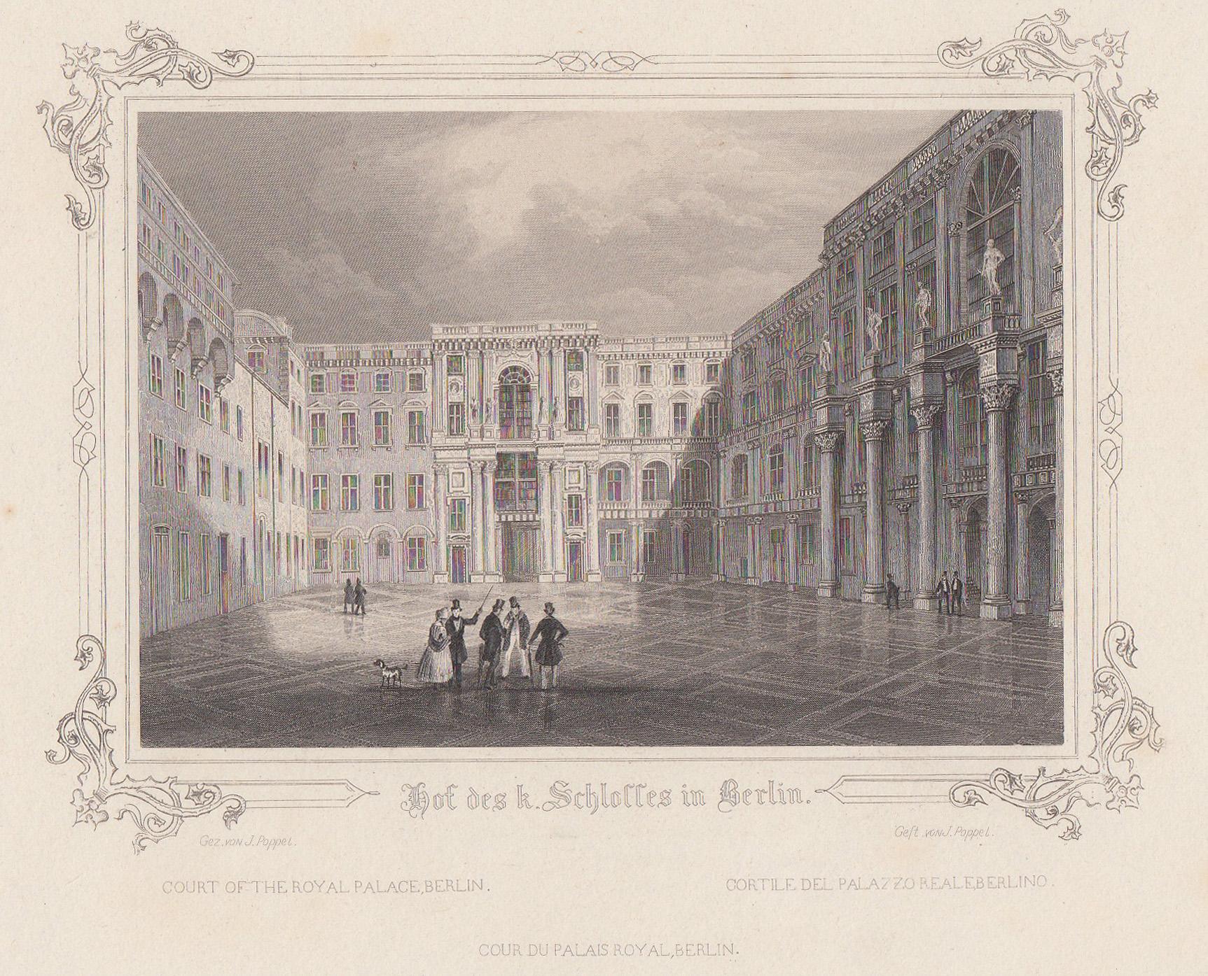 "Schloßhof, ""Hof des k. Schlosses in Berlin"".: Berlin - Schloss:"