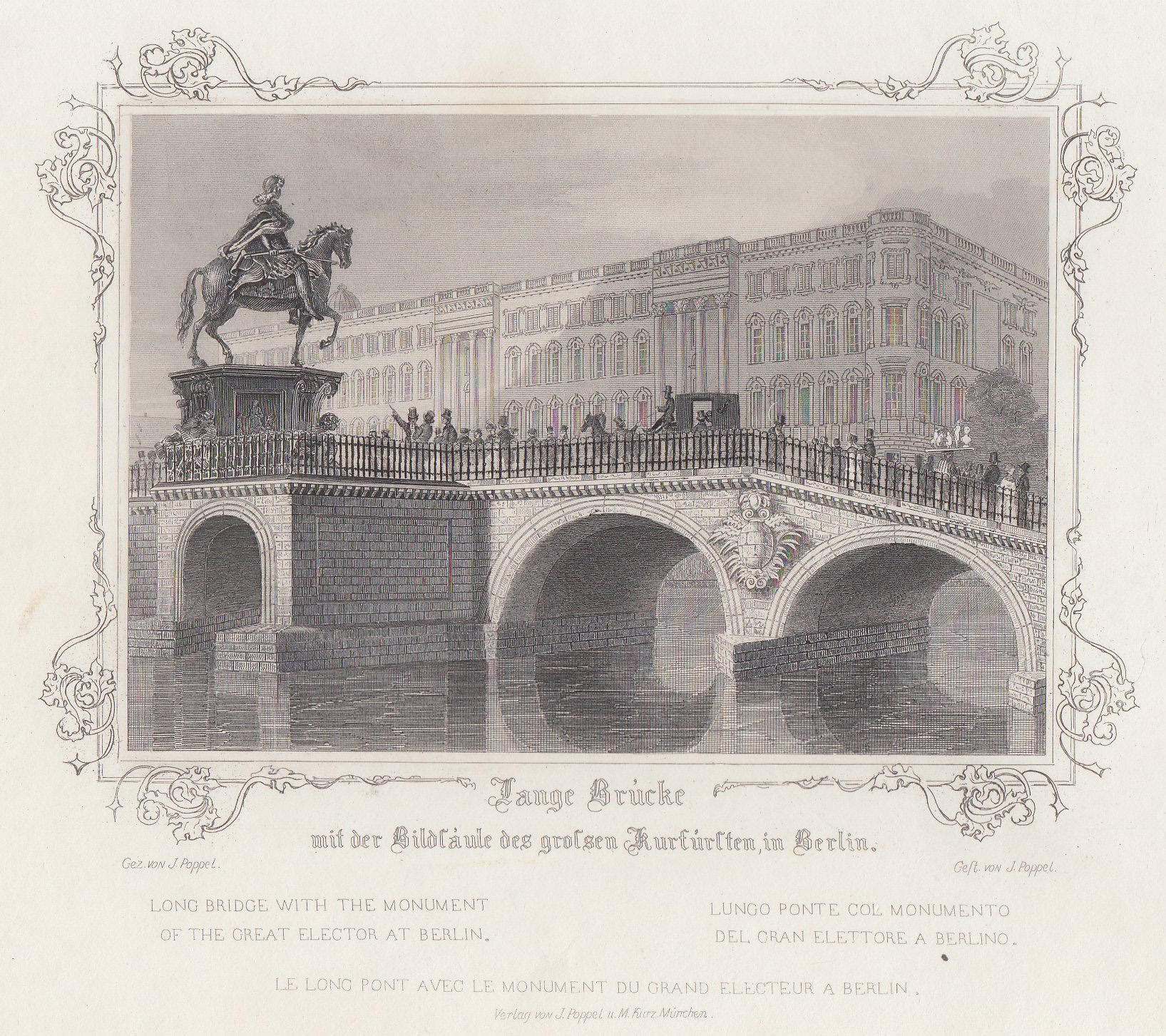 "Ansicht v. d. Burgstraße, ""Lange Brücke mit: Berlin - Schloss:"
