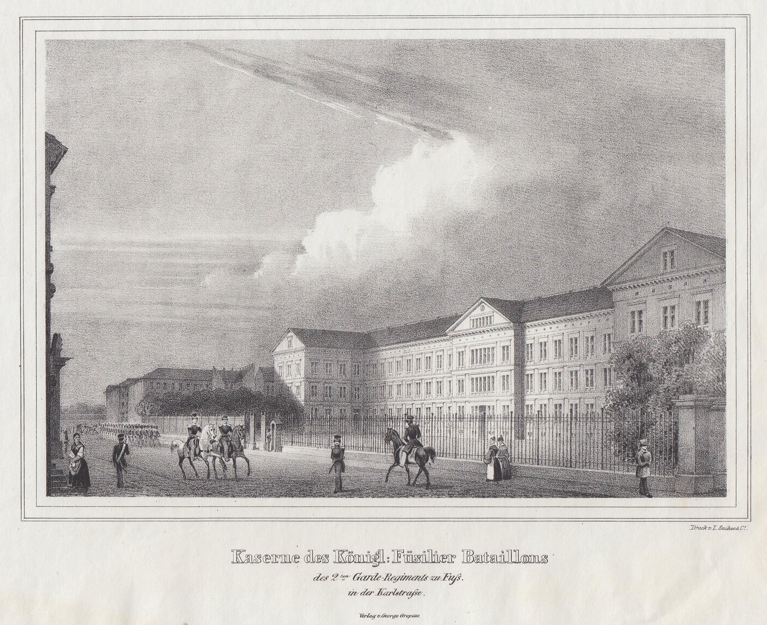 Kaserne des Königl. Füsilier Bataillons des 2.: Berlin - Militärbauten: