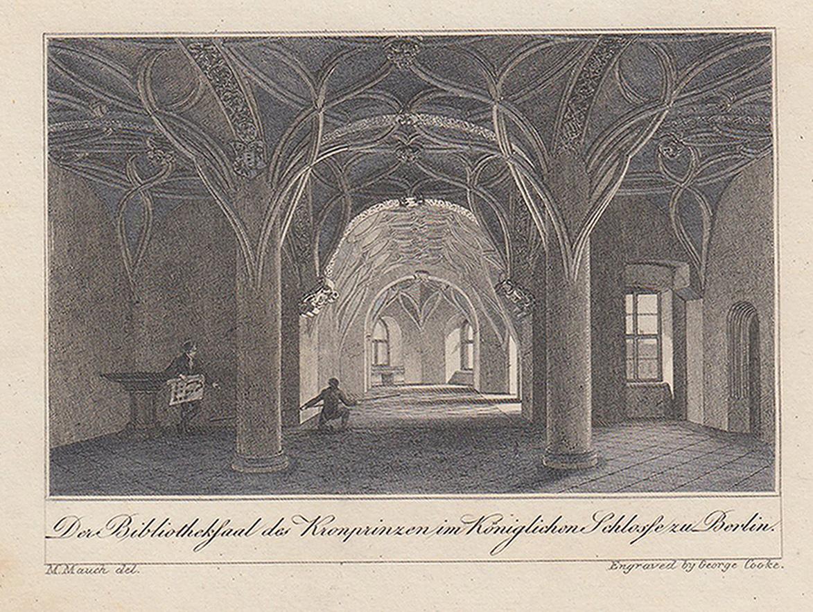 """Innenansicht, """"Der Bibliothekssaal des Kronprinzen im Königlichen: Berlin - Schloss:"""