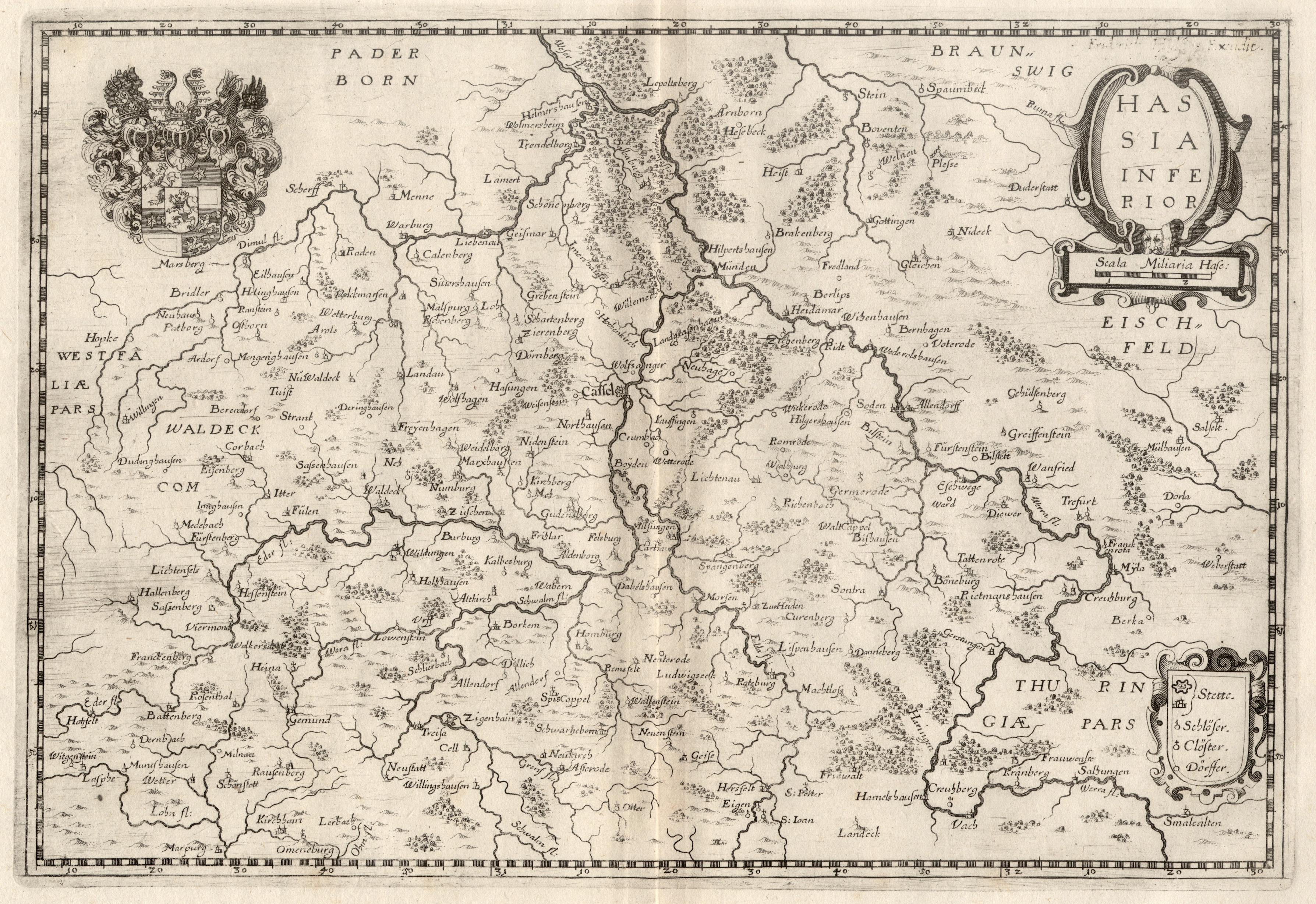 Kst.- Karte, n. Hulsius b. Merian aus: Nordhessen: