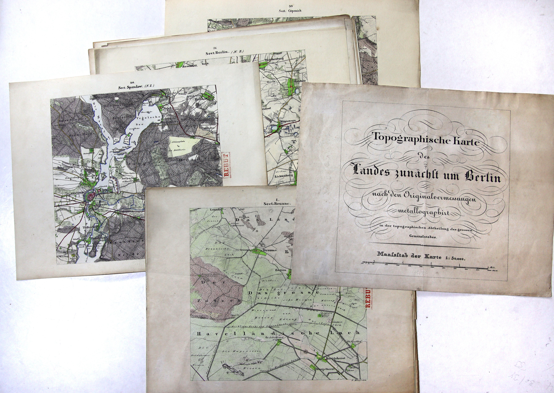 Topographische Karte des Landes zunächst um Berlin: Berlin - Umgebungskarte: