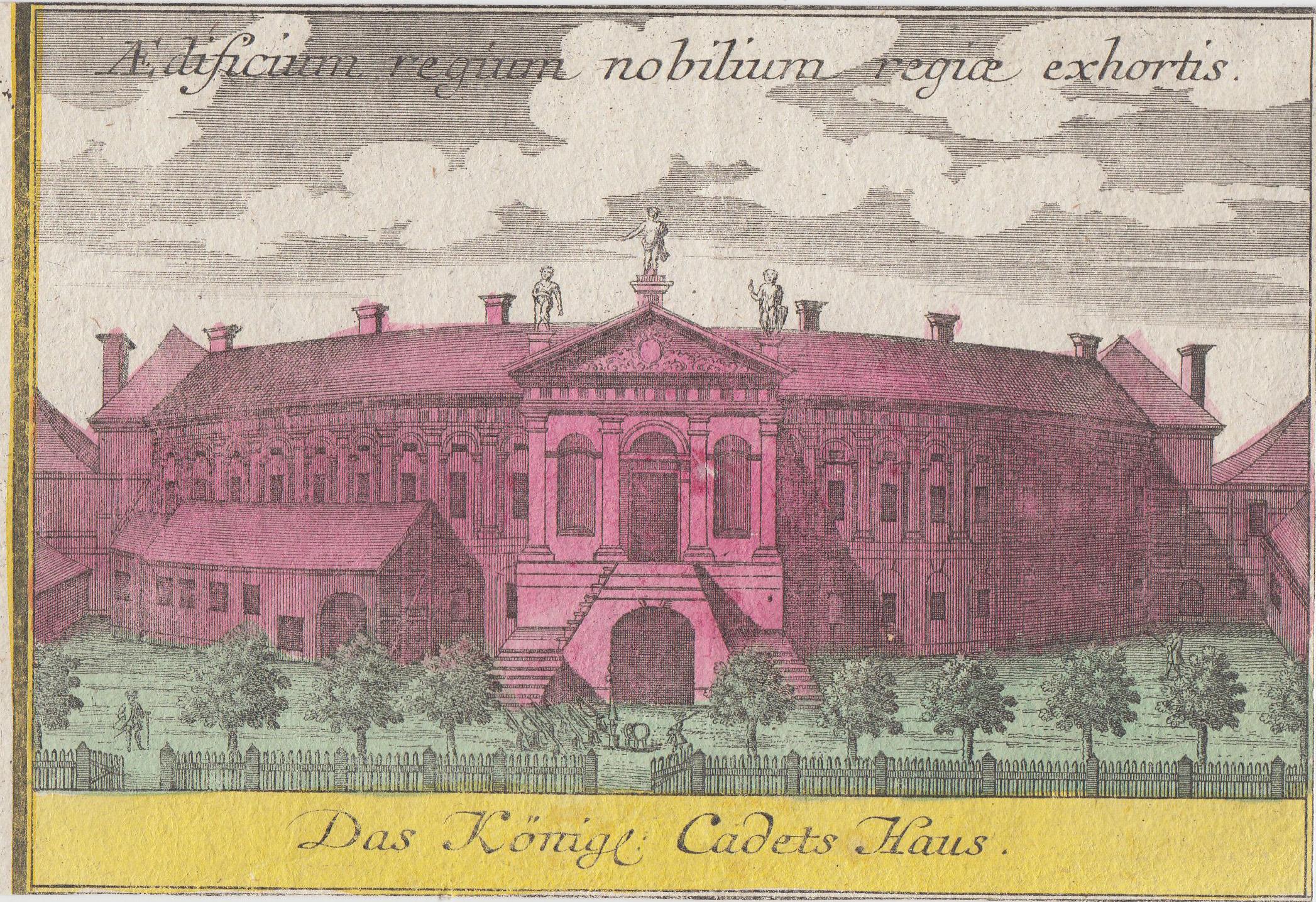 "Kadettenhaus, ""Das Königl. Cadets Haus"".: Berlin - Militärbauten:"